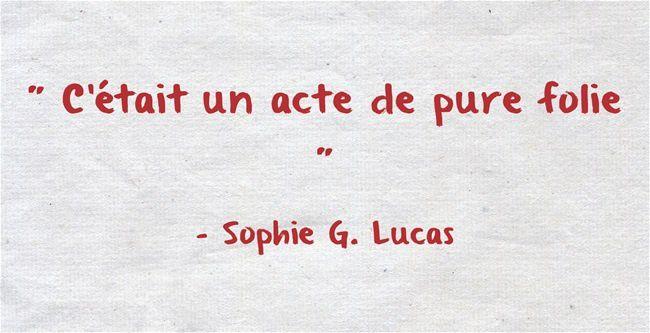 Fulguration - Sophie G. Lucas