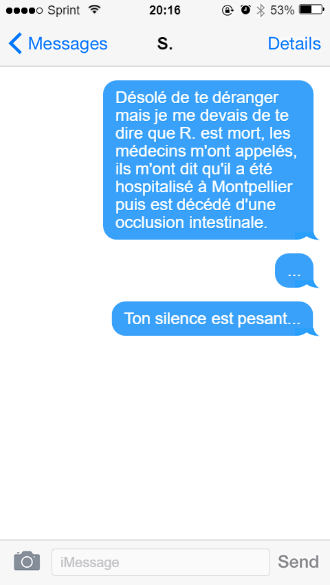 SMS - Marie Cosnay