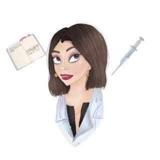 Portrait de l'auteur Julie Delaloye que j'ai réalisé sur Ipad pro