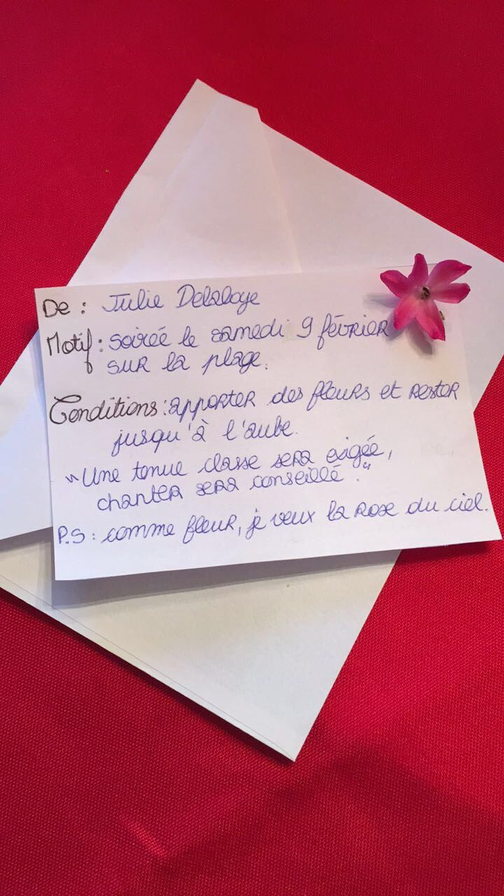 Carte d'invitation - Julie Delaloye