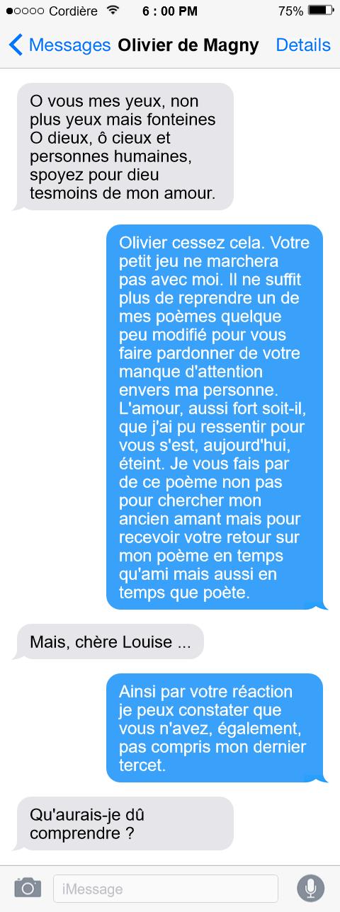 Dans le smartphone de Louise Labé - Sonnet VII