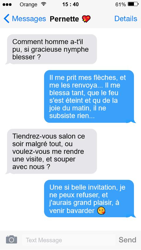 Dans le smartphone de Louise Labé  – Sonnet XIX