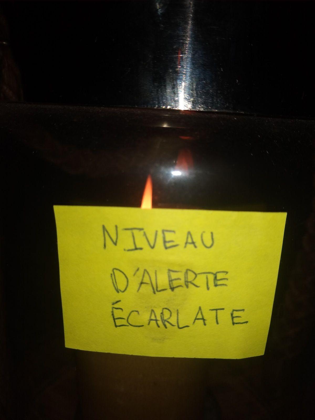 NIVEAU D'ALERTE ÉCARLATE