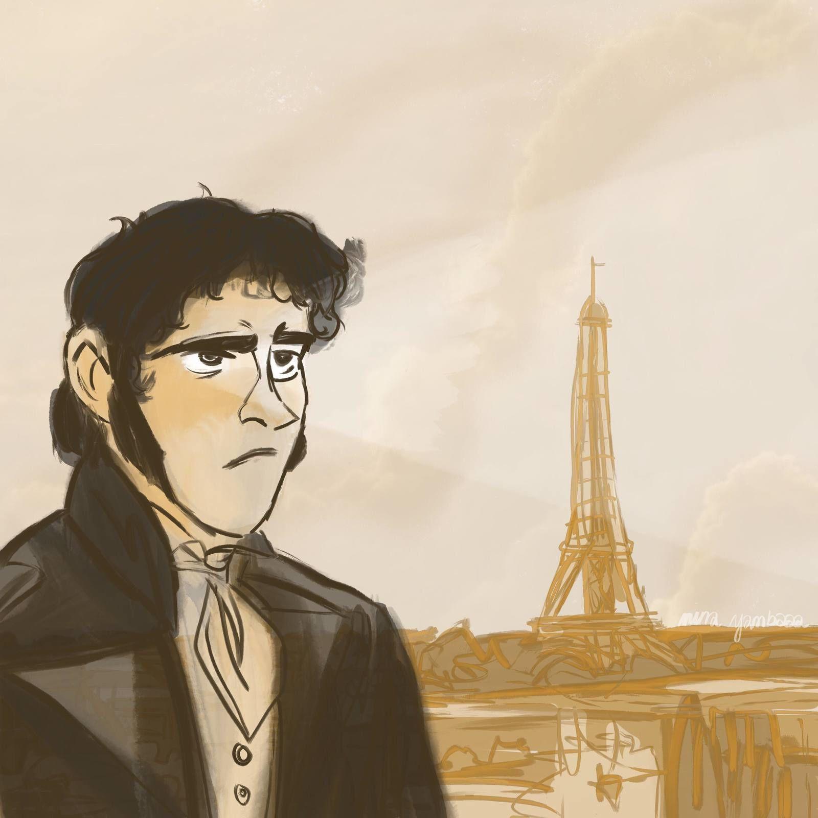 Portrait d'Eugène de Rastignac que j'ai réalisé