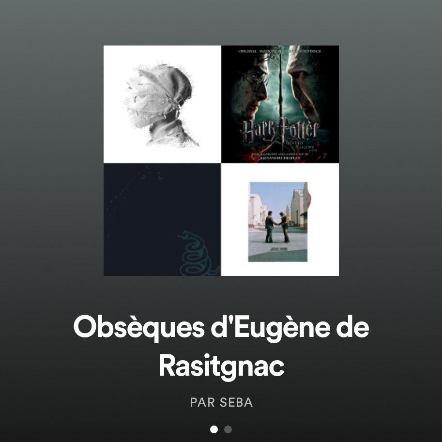 Playlist des morceaux joués aux obsèques d'Eugène de Rastignac