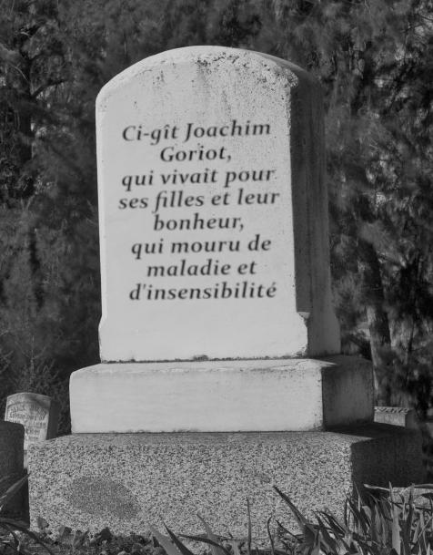 Épitaphe du Père Goriot