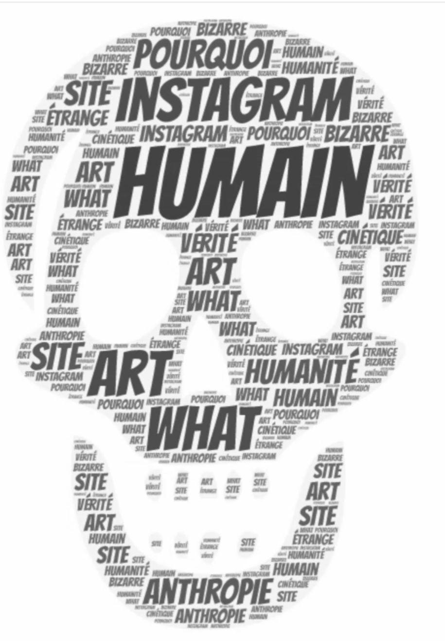 Nuage de mots - Anthropie