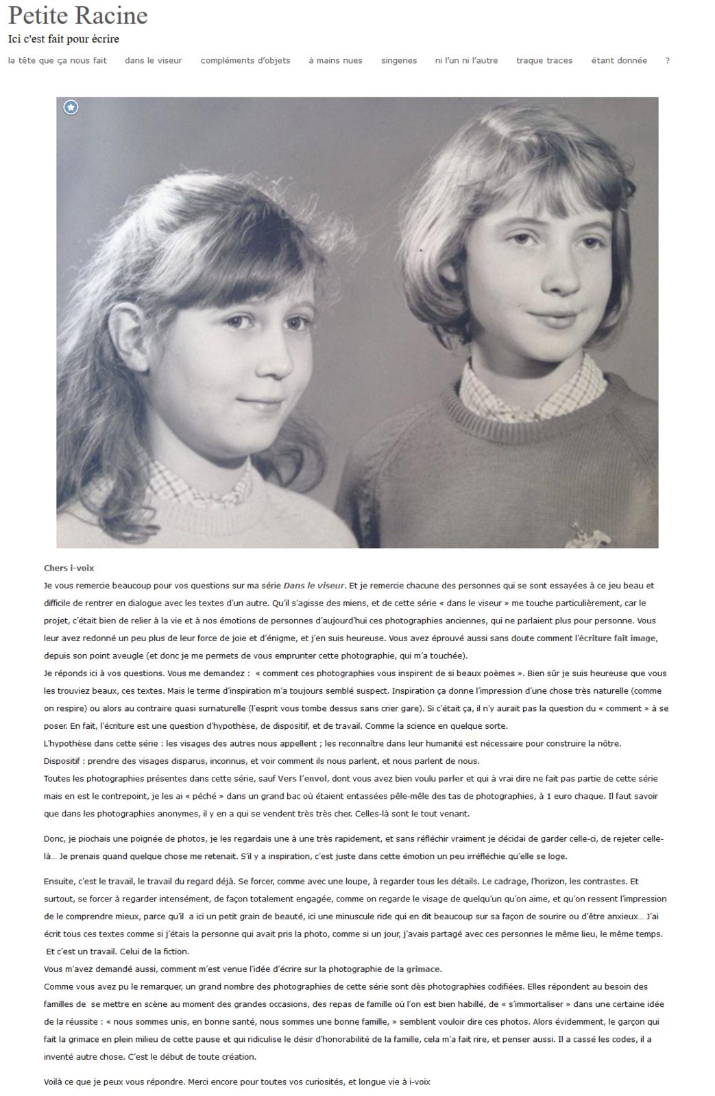 Cécile Portier écrit à i-voix