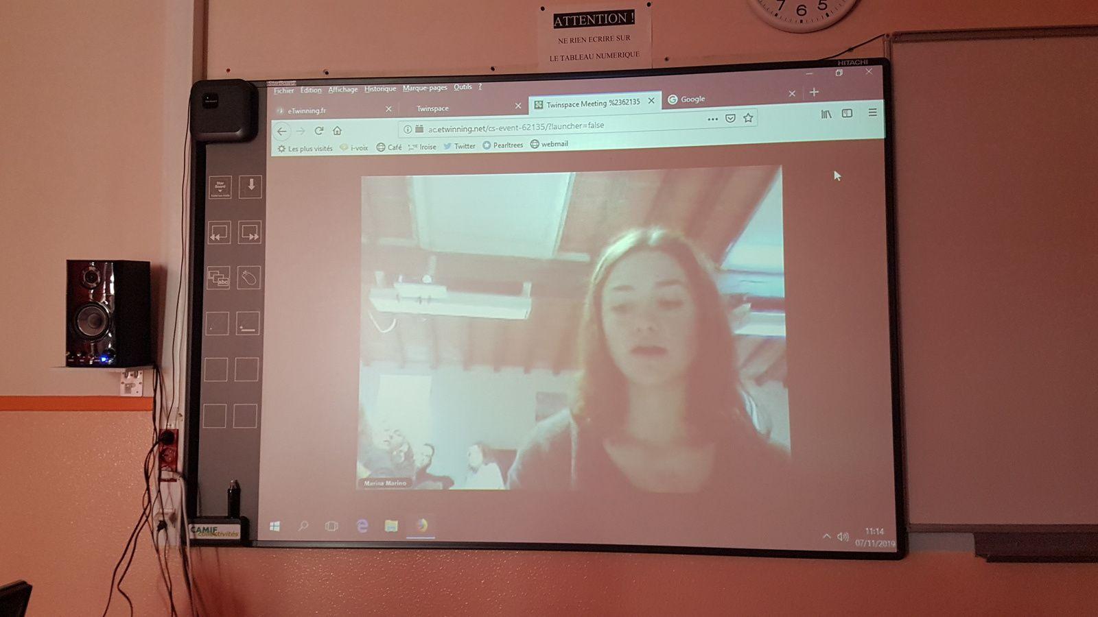 Quelques photos de la séance avec des interventions de Matilde, Linda, Noemi, Arthur