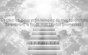 """Hippolyte """"prie"""" et s'en remet aux dieux pour avoir une rédemption de cette punition excessive."""