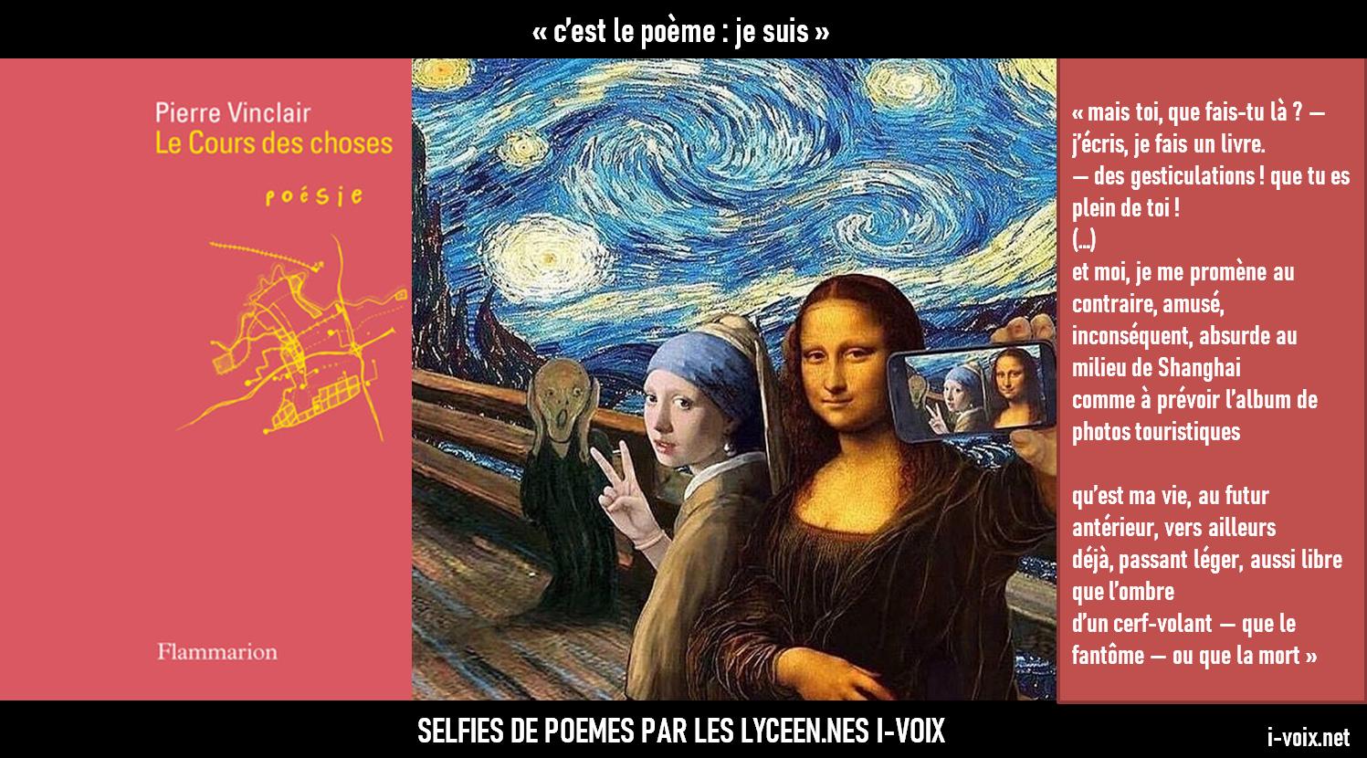 Selfies de poèmes - Le Cours des choses