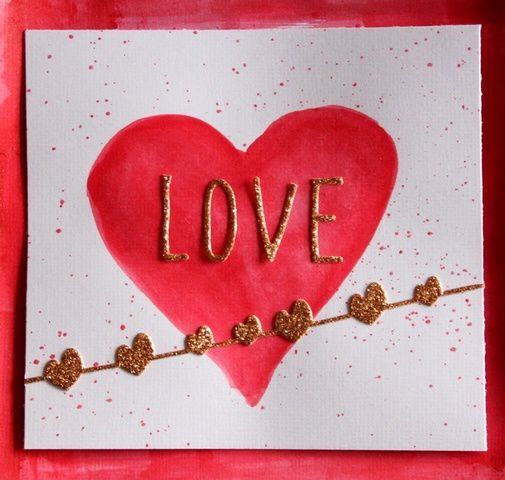 Carte Saint Valentin LOVE