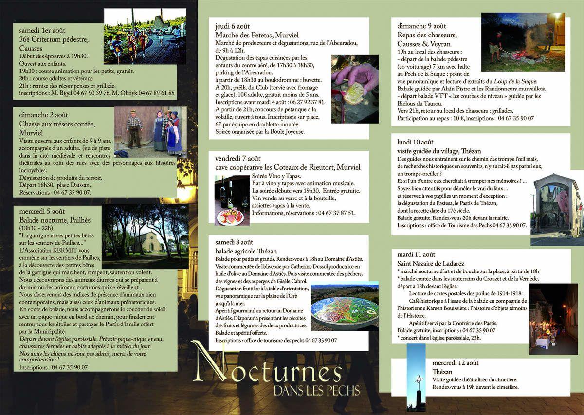 Nocturnes dans les Pechs 2015 - Mardi 11 août à partir de 18H00-