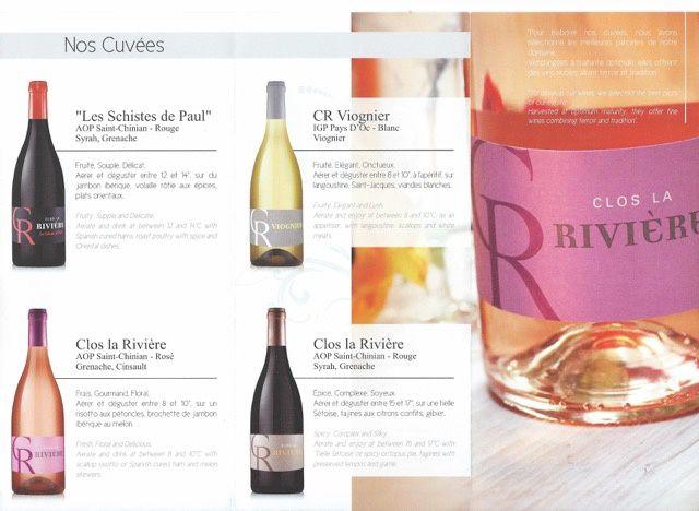 Dègustation des vins du CLOS LA RIVIERE