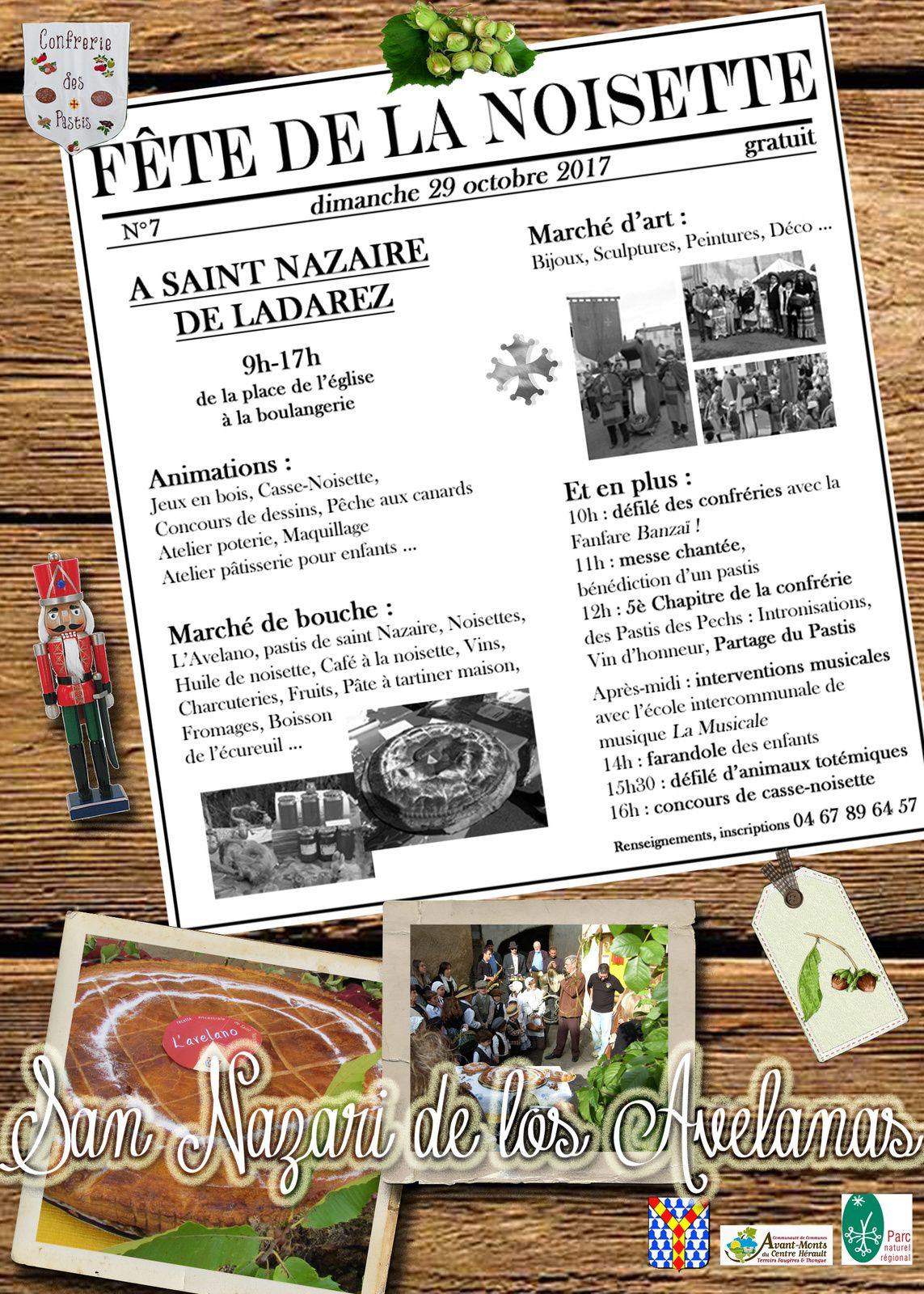 FÊTE DE LA NOISETTE-DIMANCHE 29 OCTOBRE