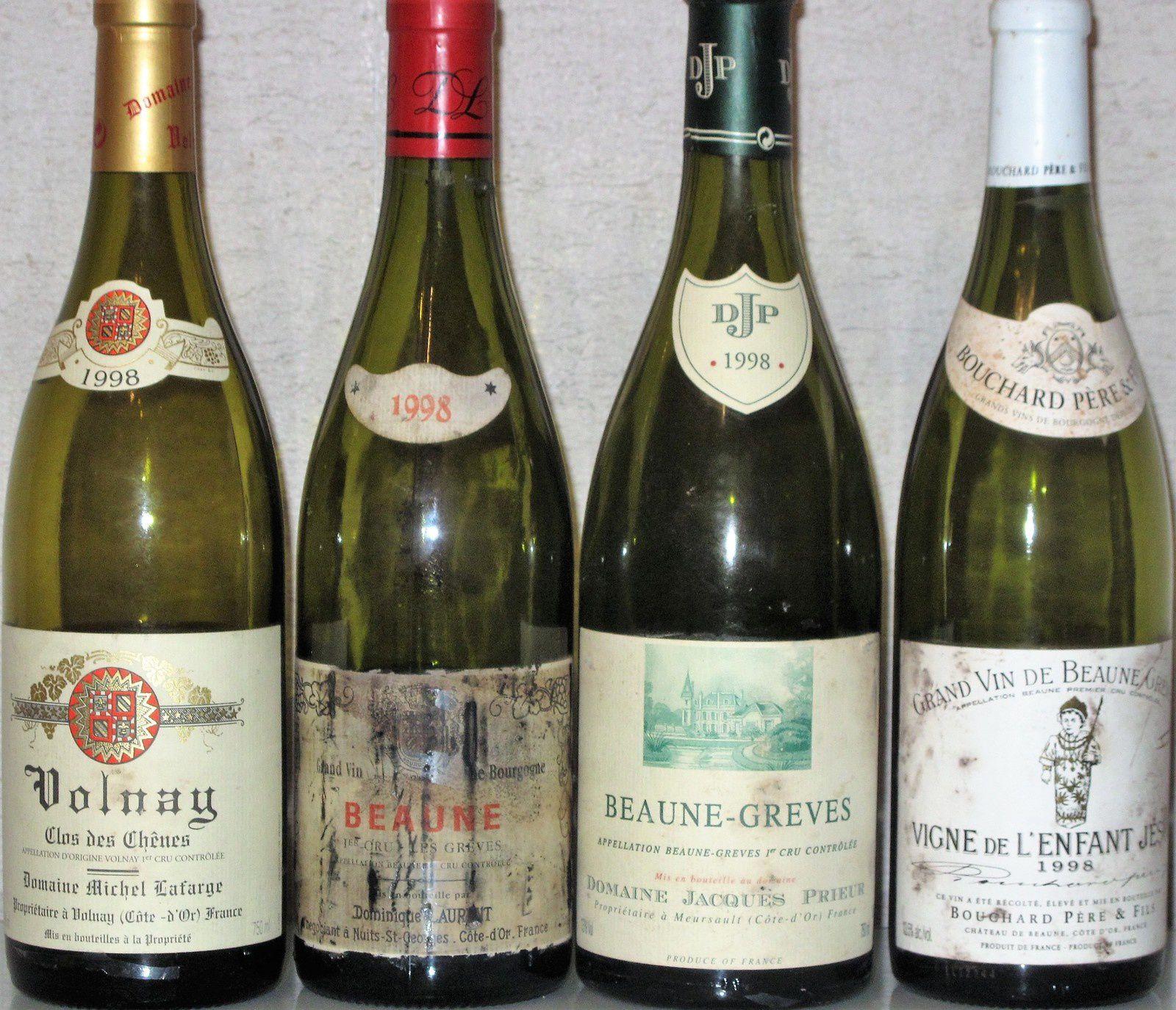 Le millésime 1998 en Côtes-de-Beaune