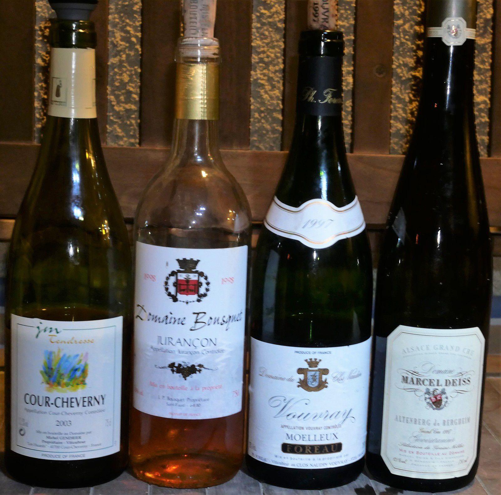 Une dégustation de vins moelleux/liquoreux