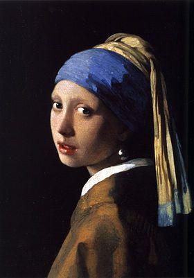 Johannes Vermeer La jeune-fille à la perle (1665)