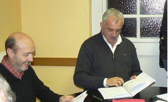 l'équipe municipale 1 Pascal Serrano et Serge Prato