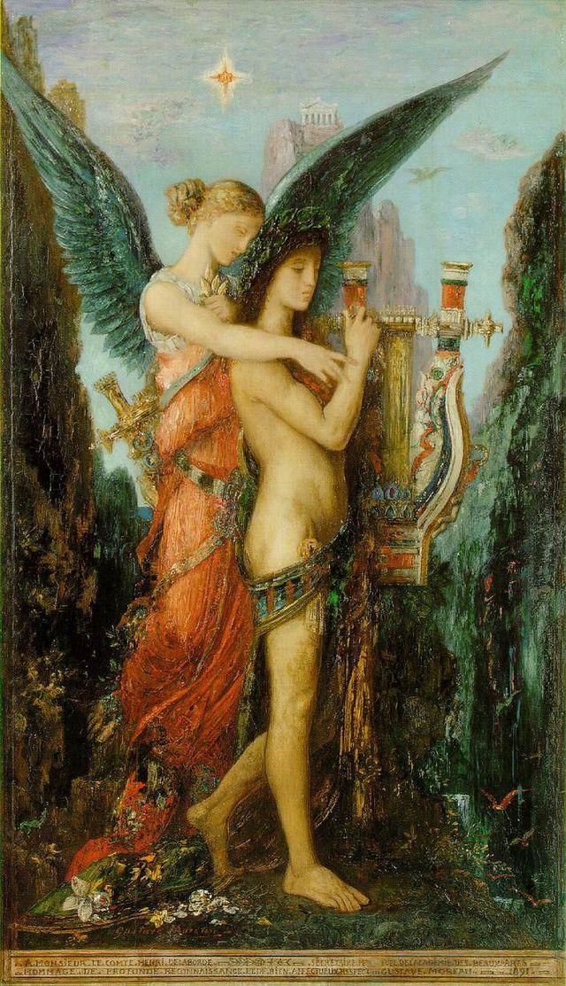 Gustave Moreau-Hésiode et la Muse -1891