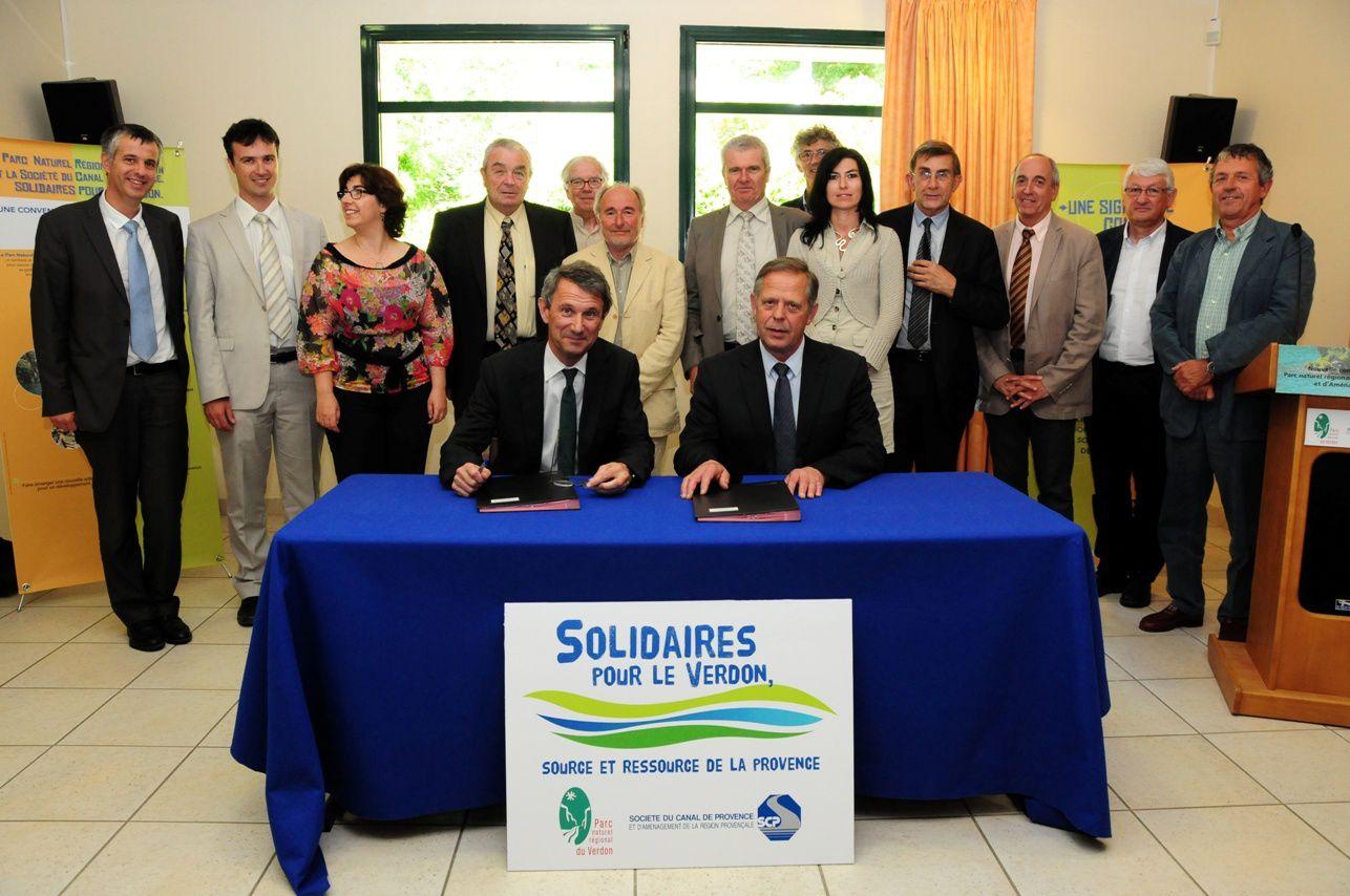 Convention de partenariat entre le PNRV  et la Société du Canal de Provence