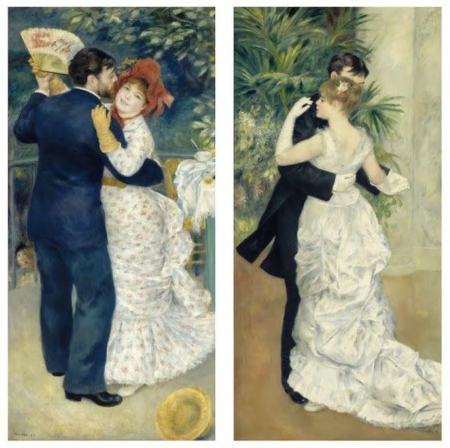 Renoir. Danse à Bougival (àg), danse à la ville (àd)