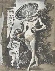 Picasso. Eros et les abeilles et Cranach Lucas -Eros et les abeilles