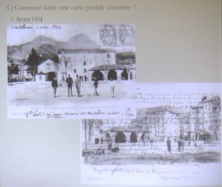 Castellane : La projection des cartes postales anciennes de Petracastellana a attiré du monde !