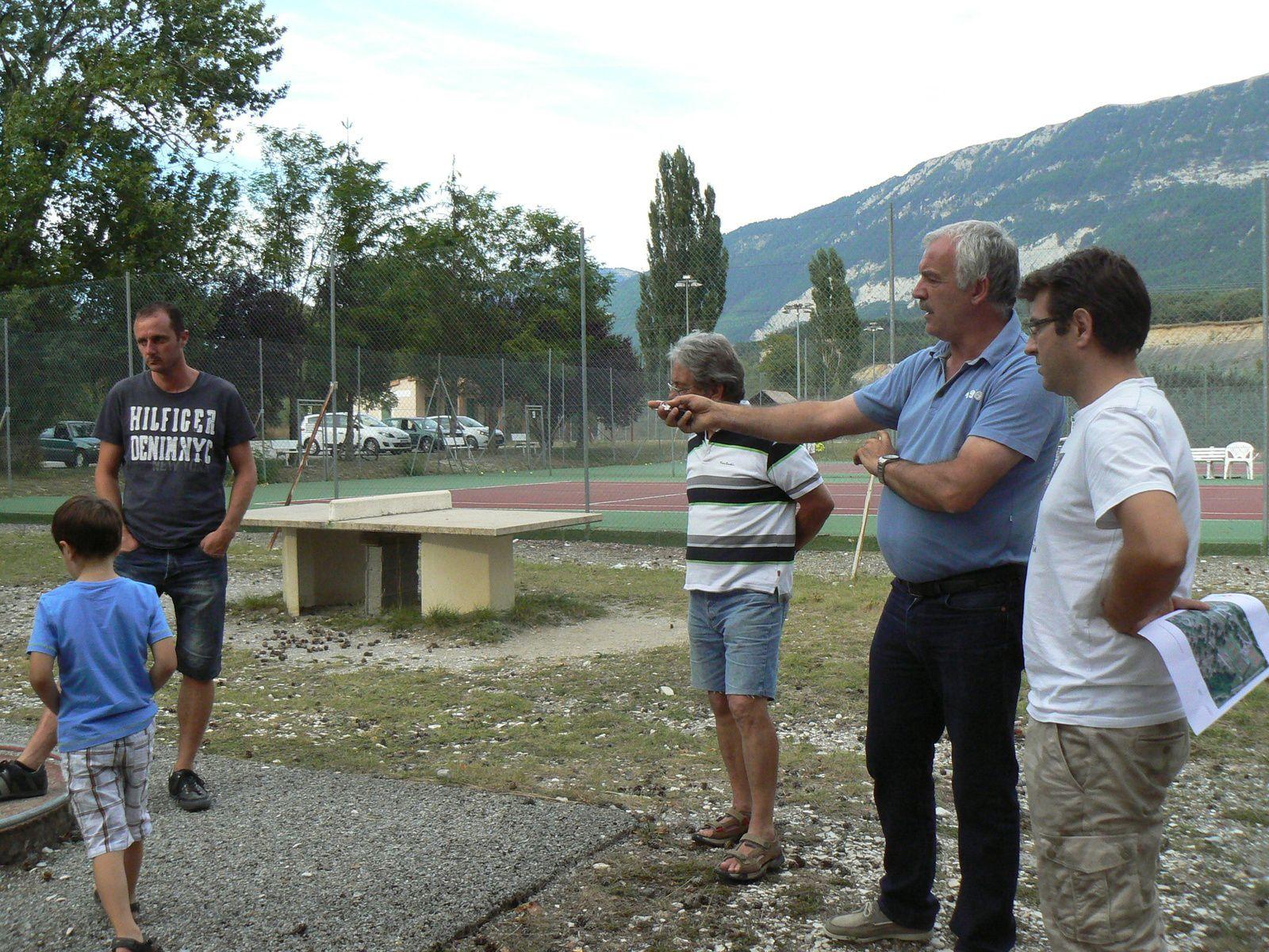 Saint André les Alpes : Etat des lieux à la base de loisirs pour les Elus