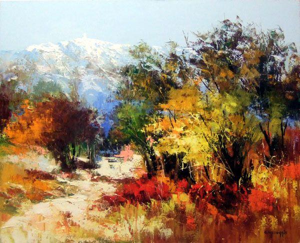 Messagio (Célestin) L'automne au mont Ventoux