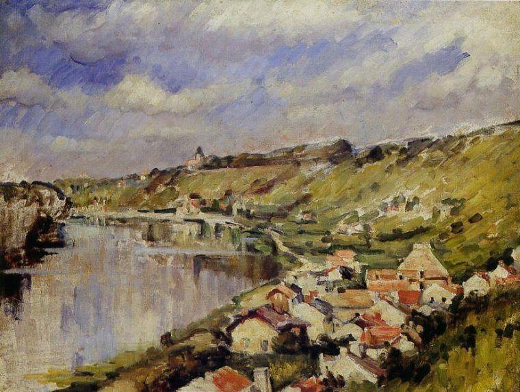 Cezanne (Paul). Paysage au bord de l'Oise