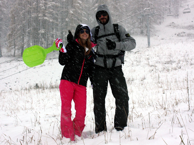 Les joies de la neige , mais aussi prudence sur la route et bien choisir les équipements