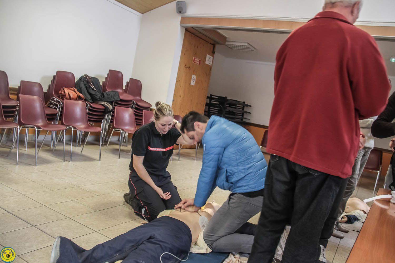 Les pompiers volontaires étaient Amélie Demandol, Gilles Mistral et Frédéric Mistral
