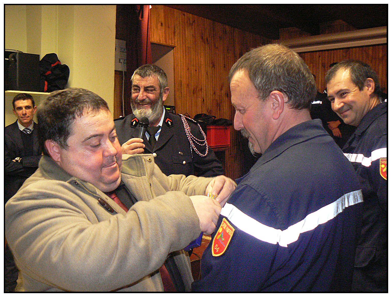 Les Pompiers de Barrême et St André les Alpes  fête la St Barbe