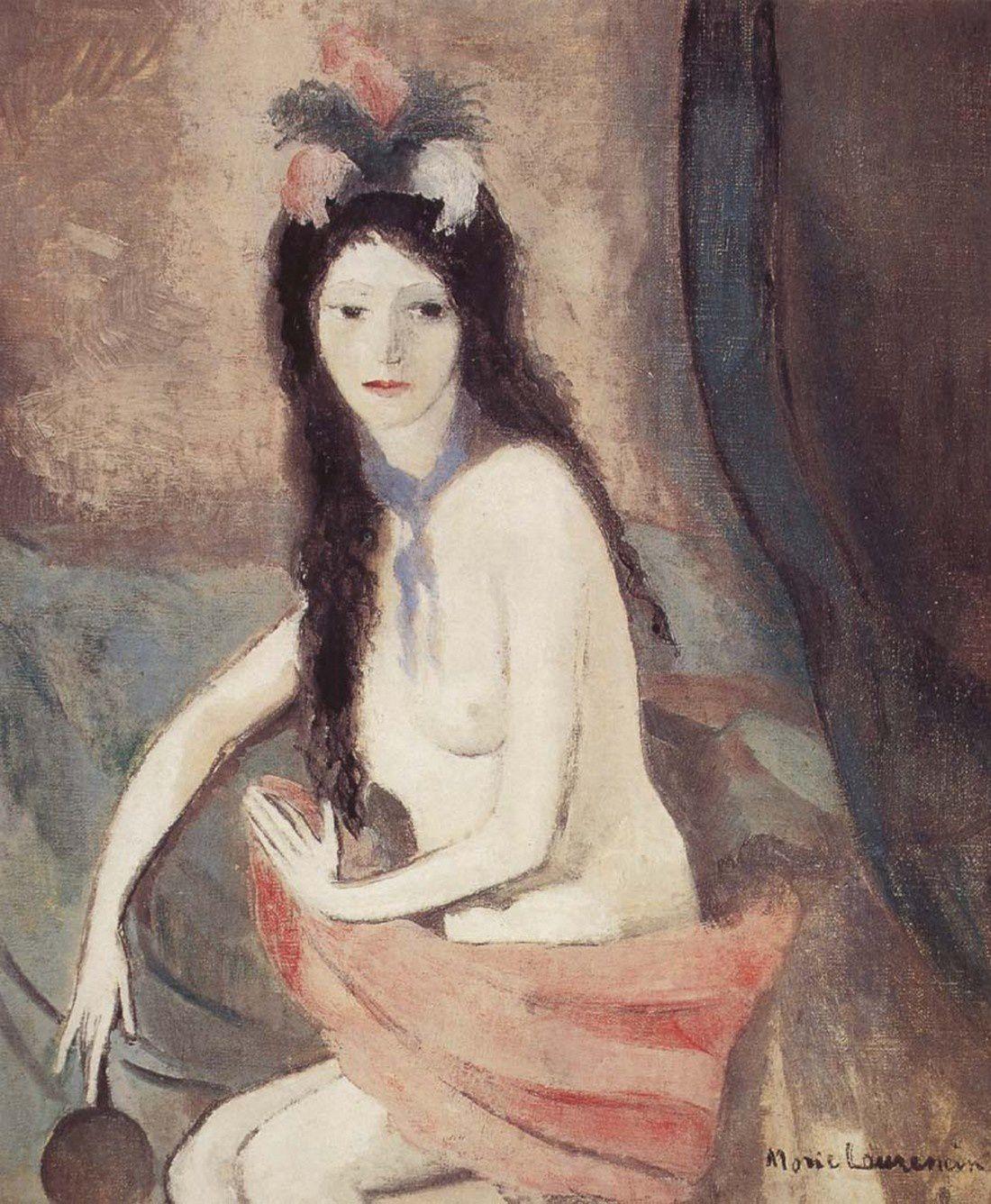 Laurencin (Marie) Nu au miroir