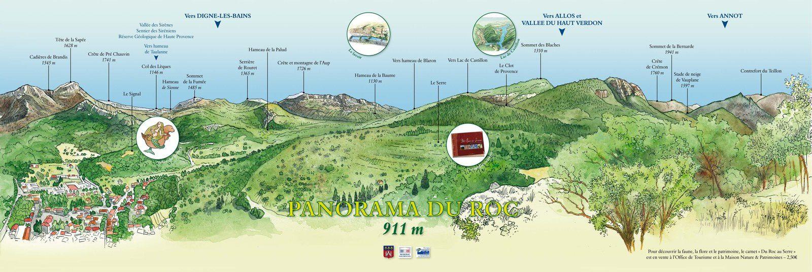 Un nouvel outil pour lire le paysage au sommet du Roc, Castellane