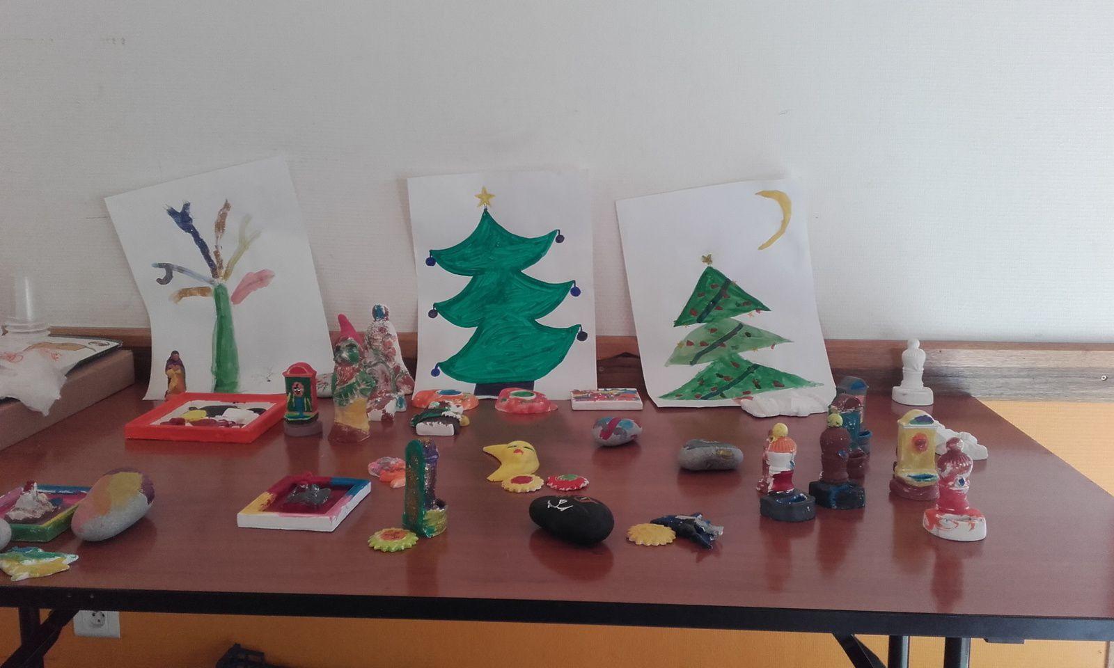 photos Olivia à l'atelier de peinture