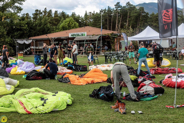 Coupe du monde de parapente , compétition le jour deux