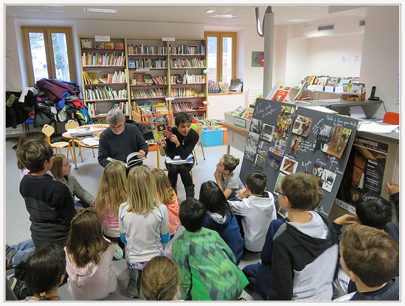 Saint André les Alpes : L'école à la médiathèque