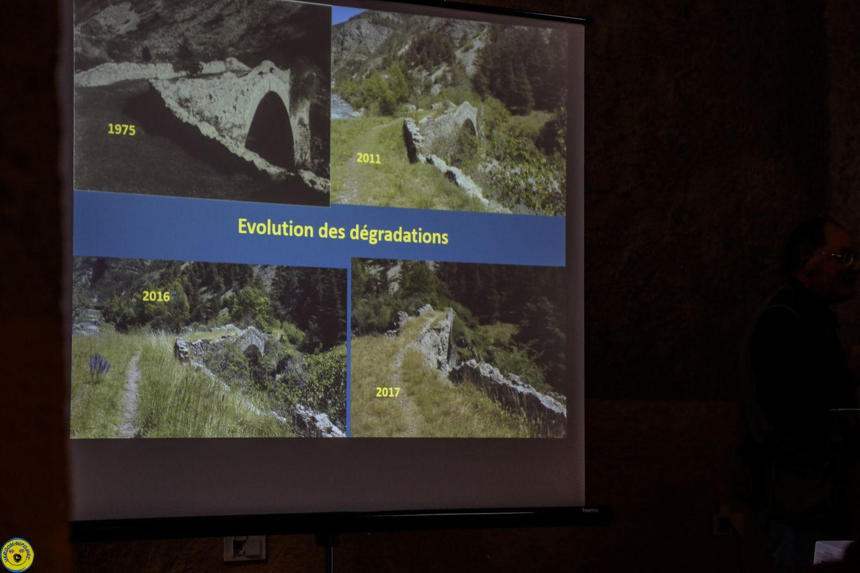 Thorame Haute , conférence sur l'histoire du pont du Moulin
