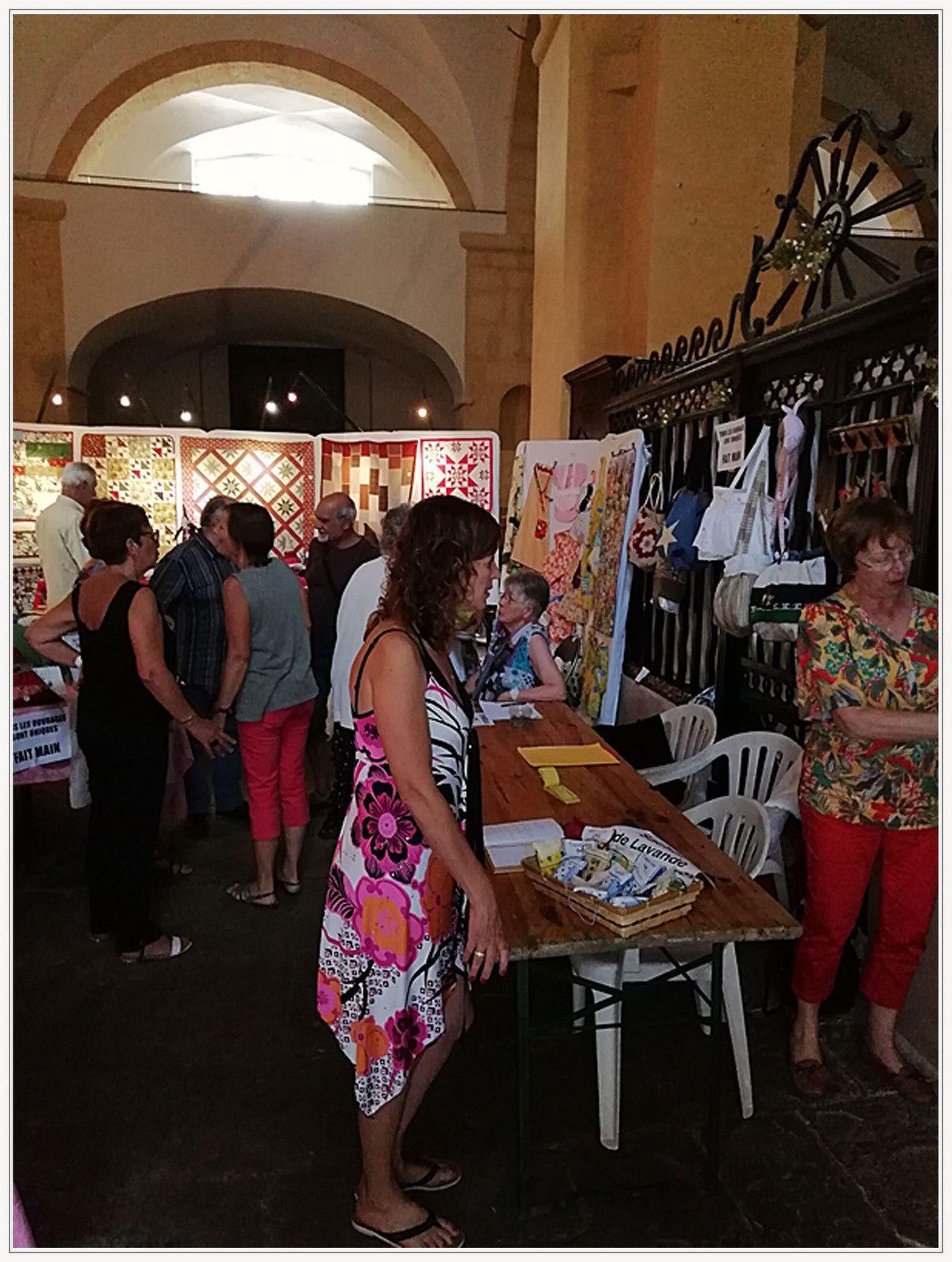 Castellane  ; Boutis et création de couture à l'église Saint Victor