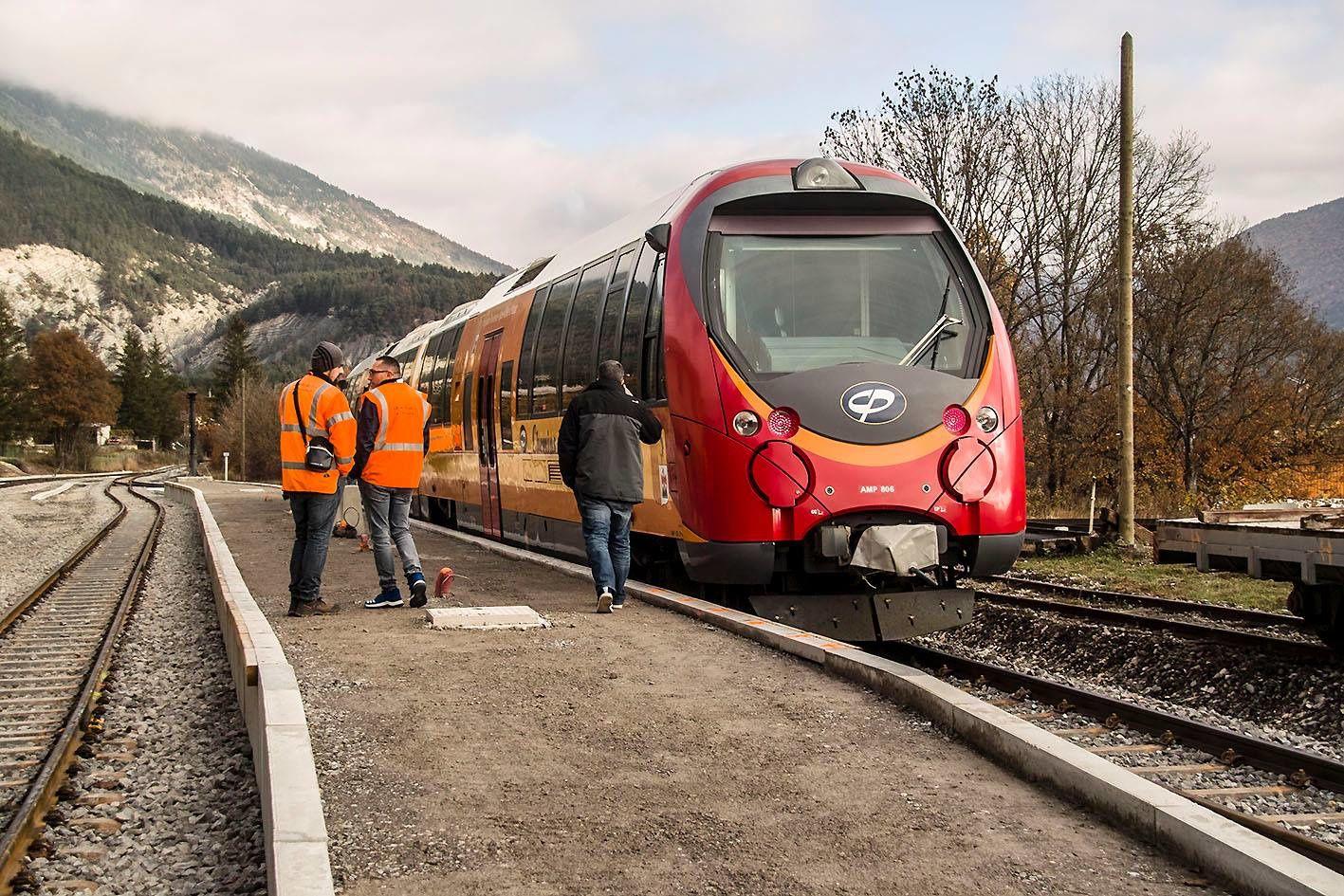 Saint André les Alpes : Remise en service partielle des autorails de la CP