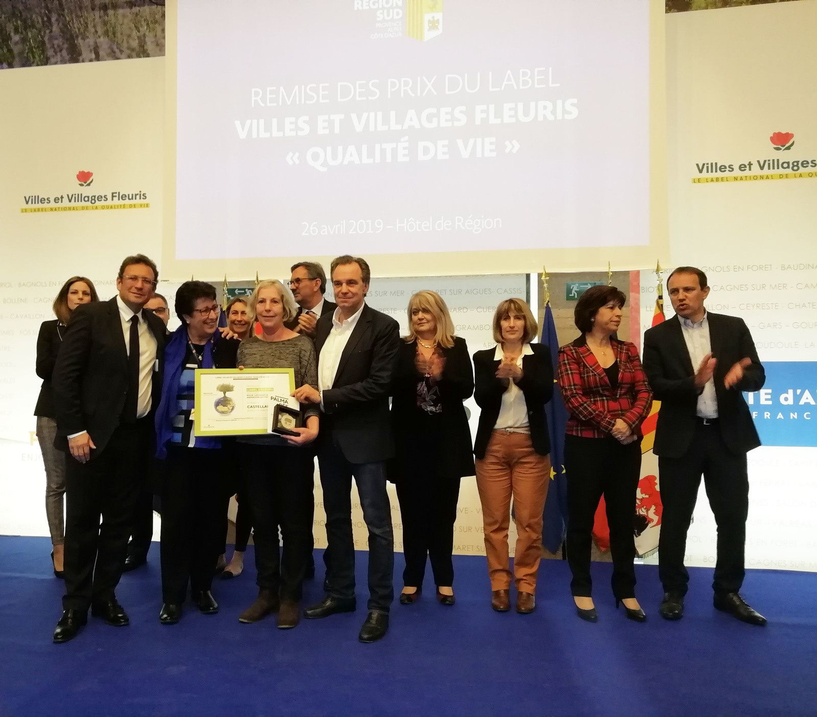 """Castellane  : Prix spécial régional """"Villes et villages fleuris"""""""