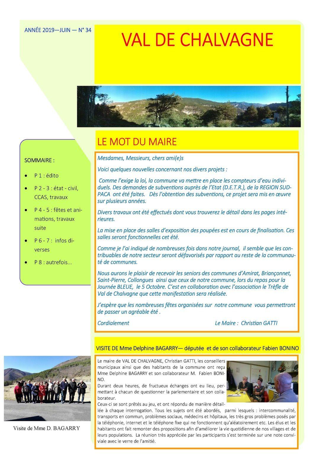 Val de Chalvagne  : bulletin municipal n° 34