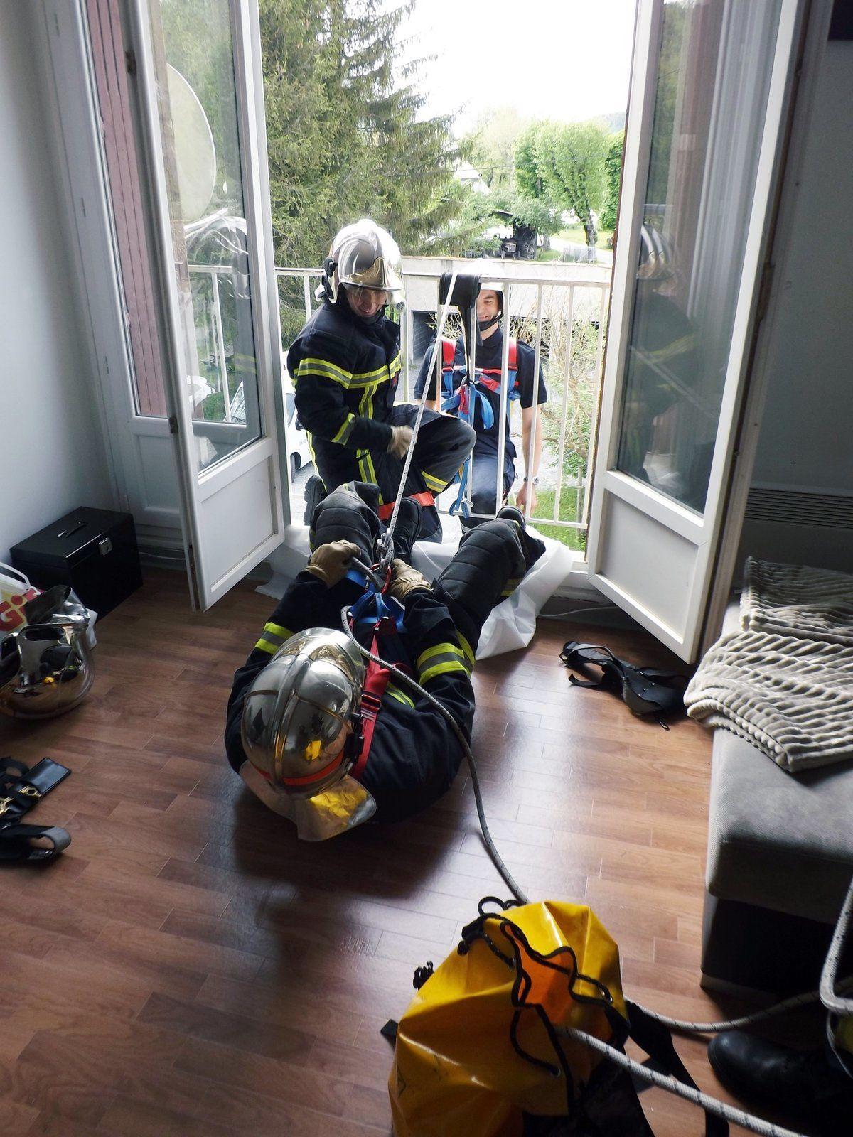 Barrême Pompiers et Gendarmes: exercices en commun