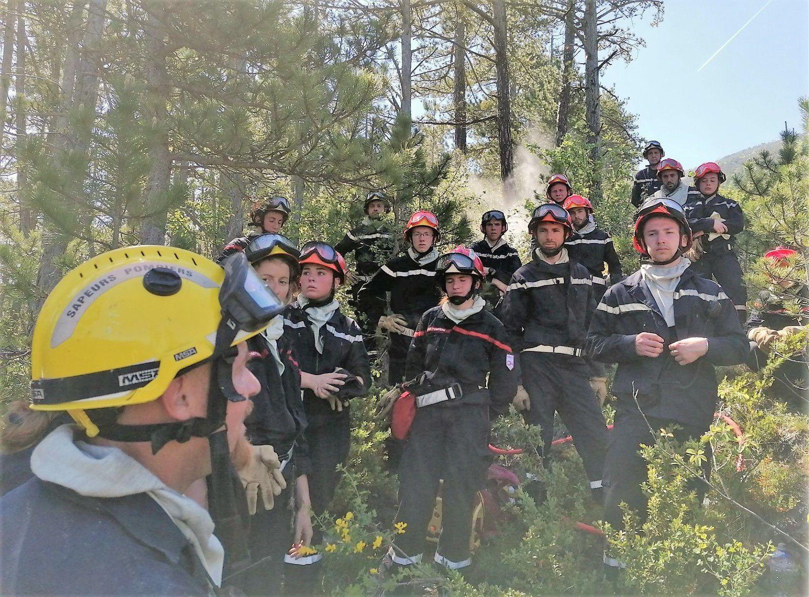 Castellane  Les sapeurs pompiers se forment pour combattre les feux de forets