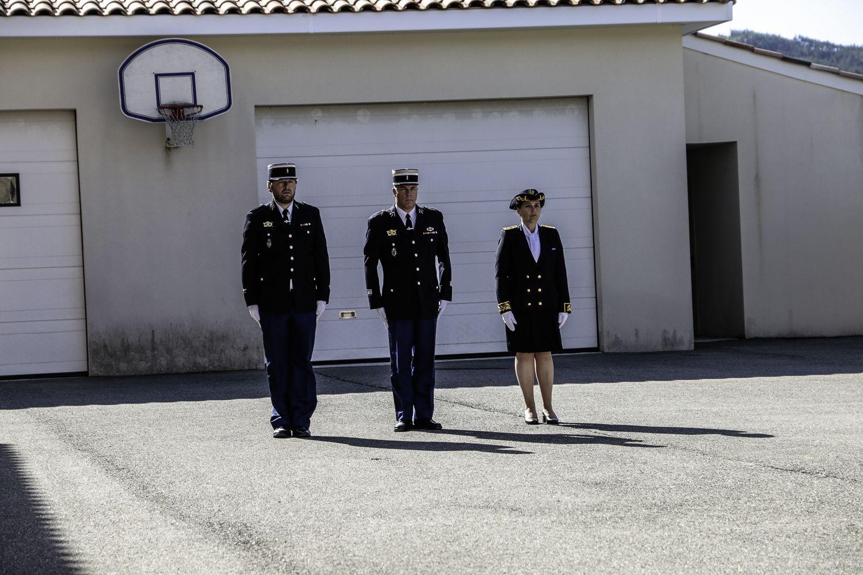 Castellane Prise de fonction du L'adjudant chef Migneaux