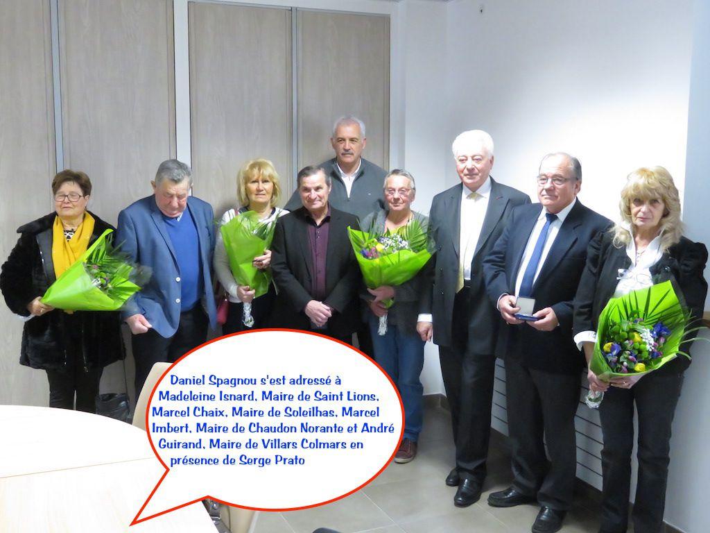 Saint André les Alpes: Des médailles d'honneur pour nos maires