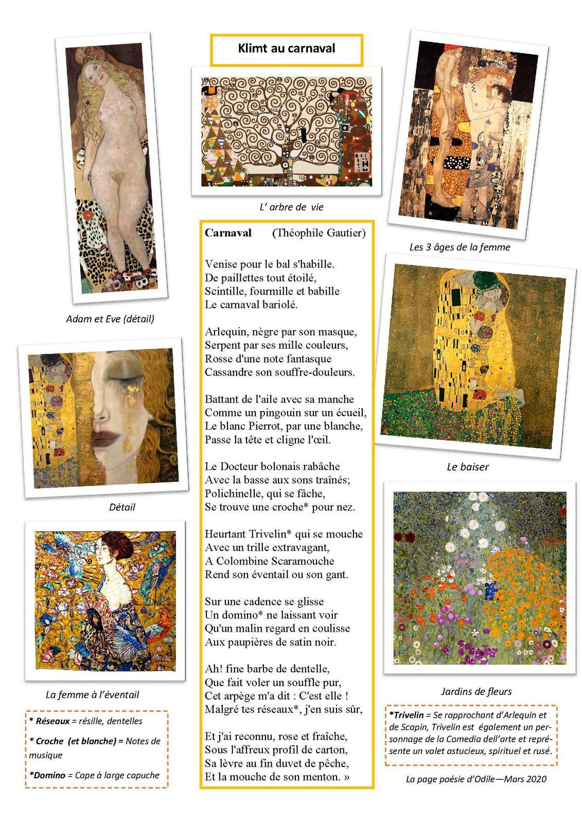 La page d'Odile: Klimt au carnaval