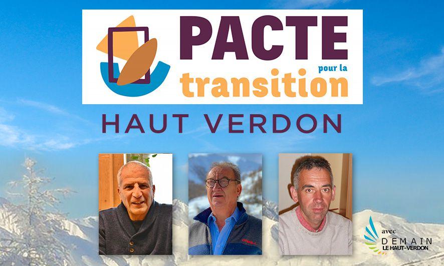 Pacte pour la Transition: le Haut Verdon s'engage!